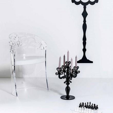 Kolltuk dizajni modern i bërë nga pleksiglasi dhe lëkure faux Brenda