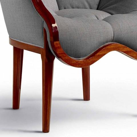 Kolltuk në pëlhurë dhe dizajn të ngurtë druri, i bërë në Itali, Begga