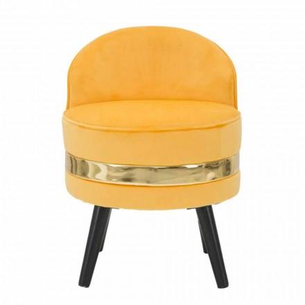 Mini karrige moderne me ngjyra në dru dhe pëlhurë - Koah