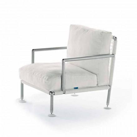Kolltuk dizajni modern në çelik dhe PVC e zezë ose e bardhë për natyrë - Ontario2