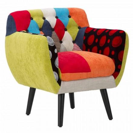 Kolltukë shumëngjyrësh karrige me dizajn modern në pëlhurë dhe dru - Koria