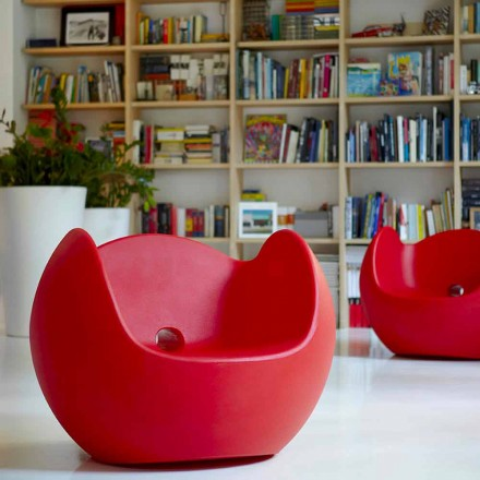 Dizajnoni kopshtin / kolltukun lëkundës të brendshëm Slide Blos, prodhuar në Itali