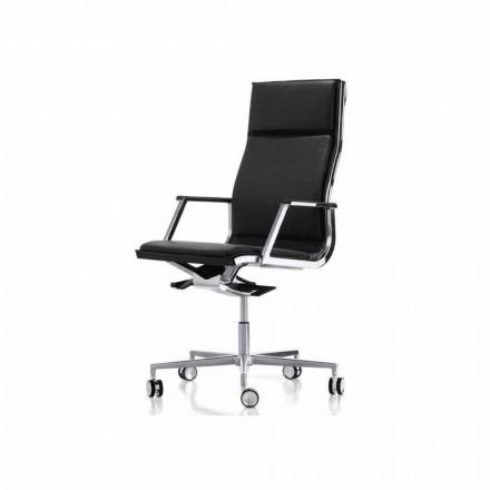 Karrige zyre ergonomike Nulite nga Luxy, me armatura