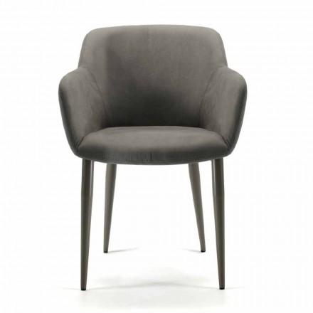 Prodhuar në Itali karrige pëlhure ose sallon lëkure, 4 copë - Bardella
