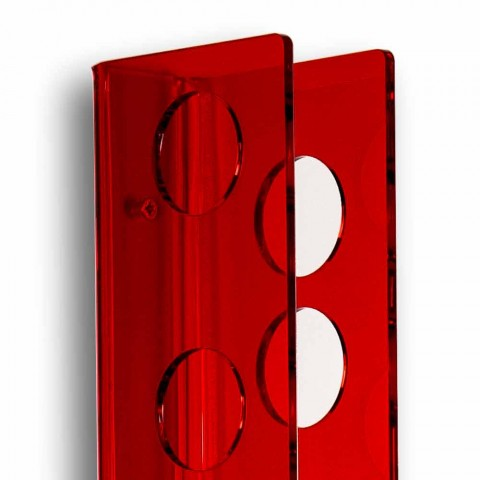 Mbajtës i shisheve të vegjël të kuq të vegjël Foshnja e vogël L6xH60xP11cm, dizajn modern