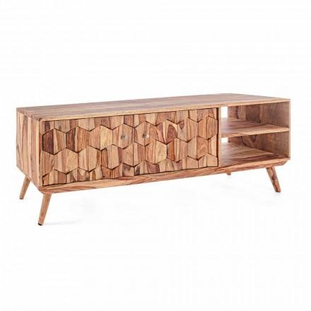 Stendë TV prej druri me dizajn të cilësisë së mirë me çelësa çeliku Homemotion - Ventador