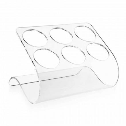 Mbajtëse shishe në këmbë falas për 6 shishe në pleksiglas transparente - Tanatin