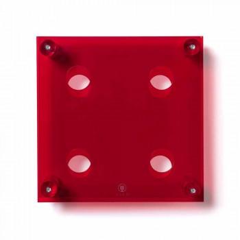 Mbajtësi bashkëkohor i filxhanit të murit të kuq Amin i vogël L30xH30xP13,6cm