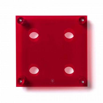 Mbajtësi i shisheve të montuar në murin e kuq Amin Small, L30xH30xP13,6cm
