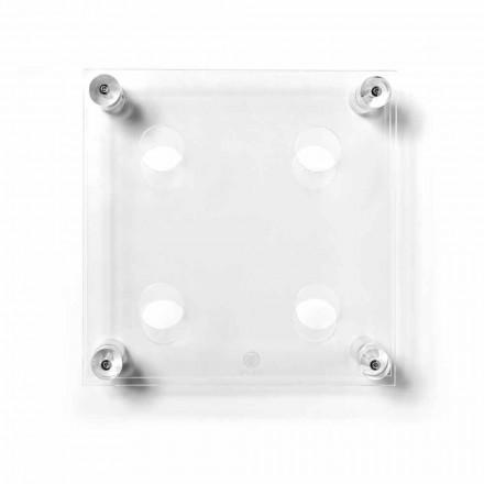 Mbajtësi i shisheve të montuar në mënyrë transparente Amin Small, L30xH30xP13,6cm