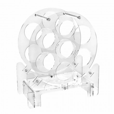 Dizajnoni Mbajtësen e Shisheve të Tavolinës në Plexiglas Transparente ose me Dru - Vinello