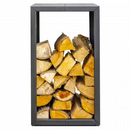 Mbajtës i zjarrit në natyrë ose shtëpie, i zi ose korten 45x45xH70 cm - Riviera