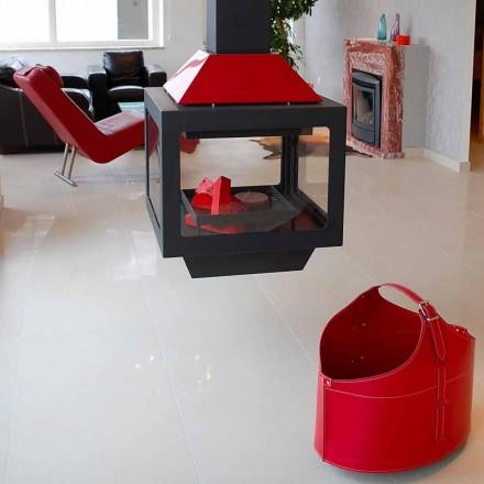 Mbajtës dizajni prej lëkure projektuesi me rrota Fabia, prodhuar në Itali