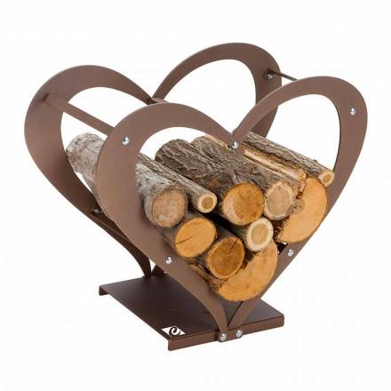 Mbajtës shtëpie prej druri në kafe çeliku të bërë në Itali - dashuri