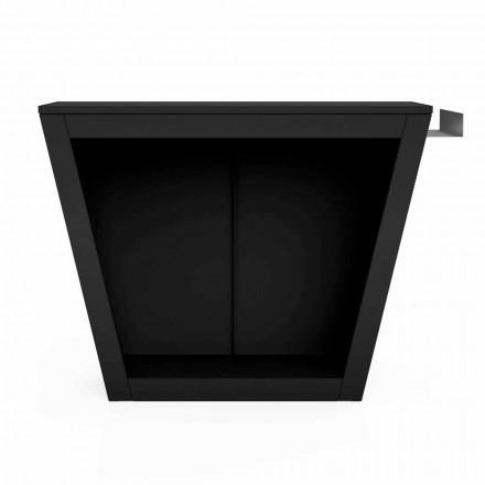 Mbajtës i dizajnit me dru zjarri të brendshëm ose të jashtëm me worktop - Esplanade