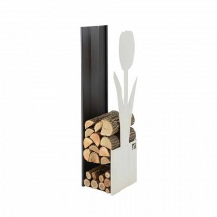 Mbajtës shtëpie për dru zjarri për fireplace prej çeliku Caf Design PLV F