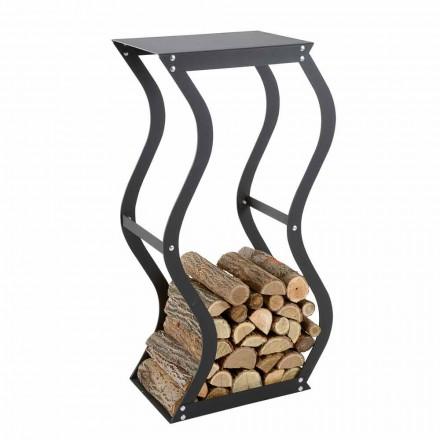 Mbajtës i dizajnit të drurit në çelik të zi për shtëpinë e bërë në Itali - Traversone