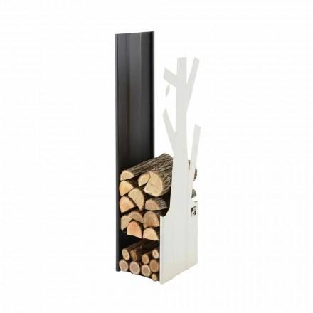 Mbajtës druri i Dizajnit të Brendshëm në çelik të bardhë dhe të zi - Maestrale5