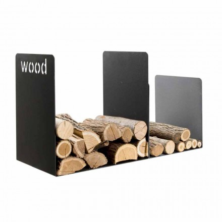 Mbajtës i dyfishtë druri në çelik të zi me dekorim anësor Dizajn modern - Altano1