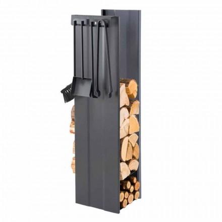 Dizajnoni Mbajtësin e druve të zjarrit me 4 Vegla të Brendshme Prodhuar në Itali - Xhenet