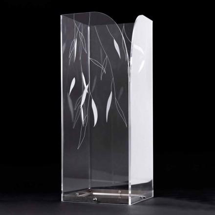 Dizajnoni Stendën e Çadrës në Pleksiglas Transparencë me Gjethe të Gdhendura - Kanno