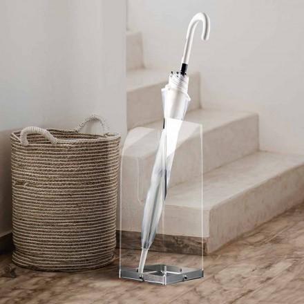 Qëndrimi ombrellë e dizajnit origjinal dhe modern në pleksiglasin transparent - Pallium