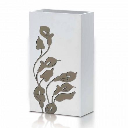 Qëndroni ombrellë druri të bardhë Qëndrim Dizajn Modern me Dekorime Lules - Caracalla
