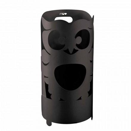 Qëndroni ombrellën e formuar nga Owl Moderne në Hekuri me Ngjyra të bëra në Itali - Gufetto