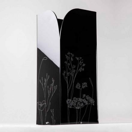 Qëndrim modern ombrellë në të zezë ose pleksiglas transparent me gdhendje - Florinto