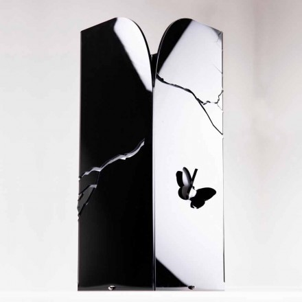 Mbështetëse e Ombrellës së Zezë Plexiglas me Gdhendje dhe Dekorime 3D, Dizajn Modern - Farfo