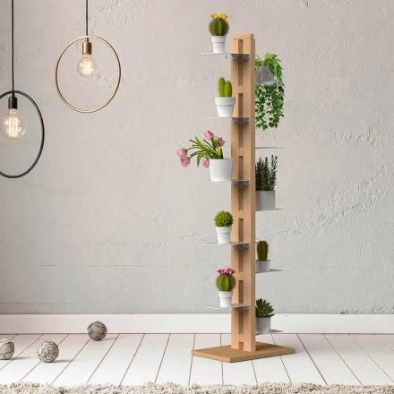 Mbajtëse moderne e vazo kolone Zia Flora e bërë në Itali