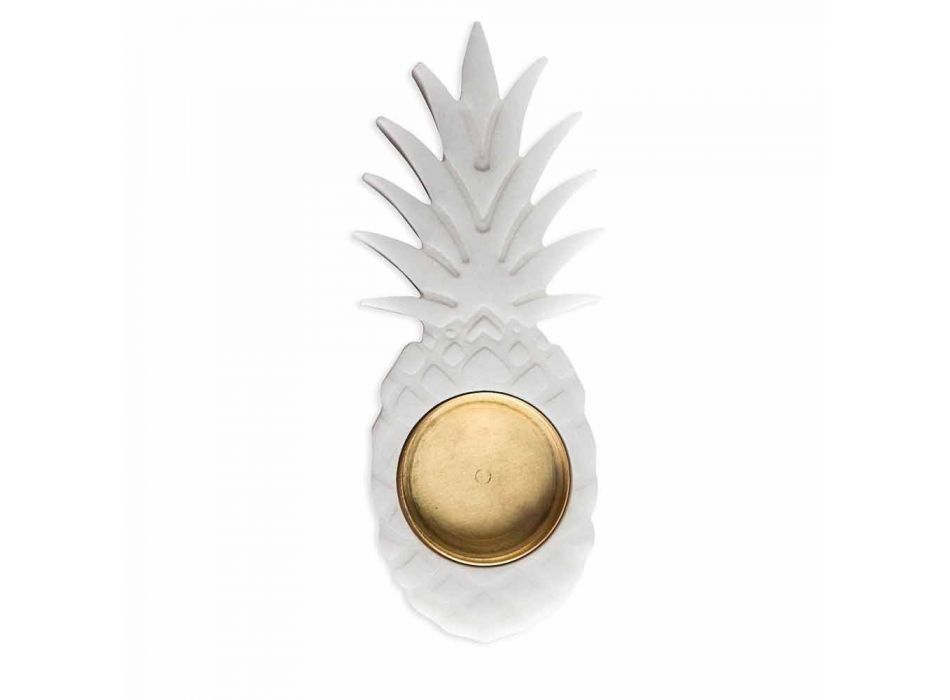 Ashtray Pineapple në mermer të bardhë Carrara Made në Itali - Cena