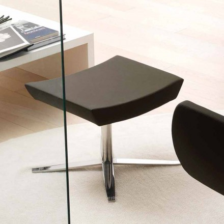 Pufë moderne zyre në eko-lëkurë dhe alumin - Clio