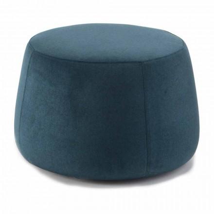 Pouf i butë i rrumbullakët për dhomën e ndenjes në kadife me ngjyra 3 Dimensione - Evelyne