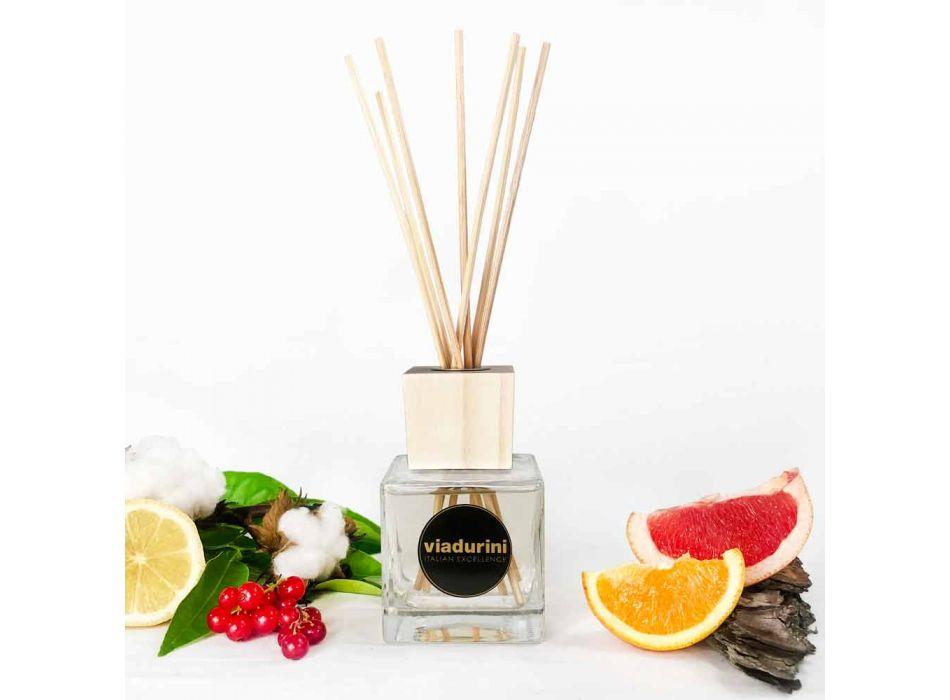Aromë shtëpiake pambuk dhe kërp 200 ml me shkopinj - Acquadipositano