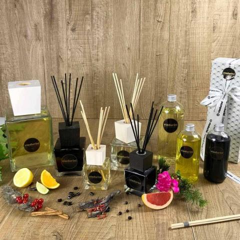 Aromë shtëpiake pambuk dhe kërp 500 ml me shkopinj - Acquadipositano