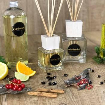 Amber Fragrance Home freskues i ajrit 500 ml me shkopinj - Sassidimatera