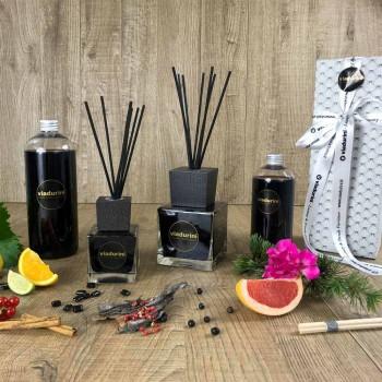 Aromë shtëpie Xhenxhefil piper i zi 500 ml me shkopinj - Viaduriniinblack