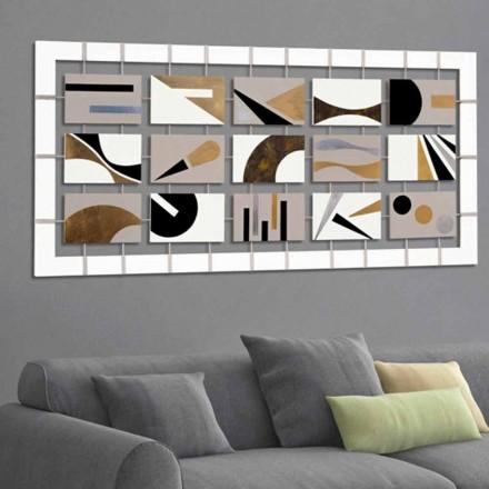 Piktura abstrakte Craig, me 15 panele, dizajn modern