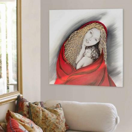 Piktura e dekoruar me Madonna nga Viadurini Decor, e bërë në Itali