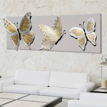 Piktura moderne me 3 flutura të ngulitura Stephen