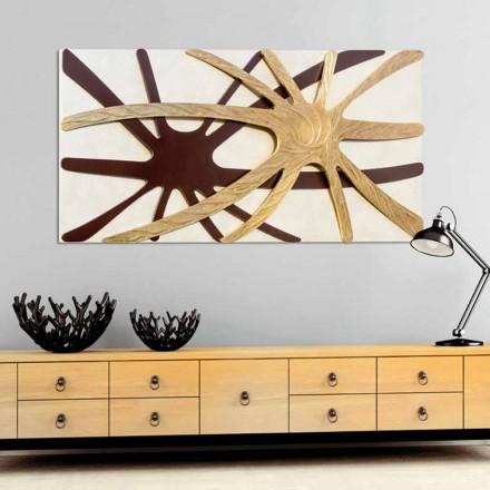 Piktura drejtkëndëshe abstrakte adad, me nënën e panelit të perlave