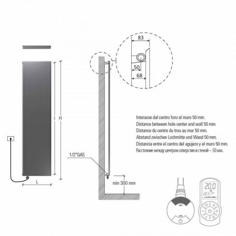 Radiator elektrik vertikal Prodhimi minimal i pllakës prej çeliku gri 700 W - Akull