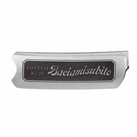 Rroje pa dore në çelik me dorezë rrëshire të zezë prodhuar në Itali - Mello