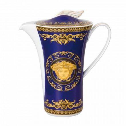 Prodhuesi i kafesë prej porcelani Rosenthal Versace Medusa Blue për 6 persona