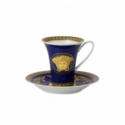 Kupa e porcelanit me dizajn të lartë Rosenthal Versace Medusa Blue