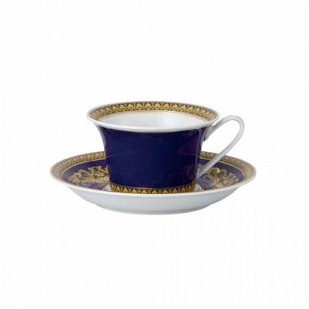 Rosenthal Versace Medusa Blue filxhan çaji prej porcelani me dizajn modern