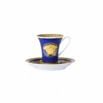 Filxhan kafeje prej porcelani nga Rosenthal Versace Medusa Blue Design