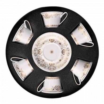 Set i filxhanit prej çaji prej porcelani me 6 copë Rosenthal Versace Medusa Gala