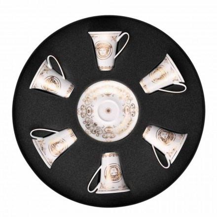 Kupa ekspres 6-copë e Rosenthal Versace Medusa Gala e vendosur në porcelan